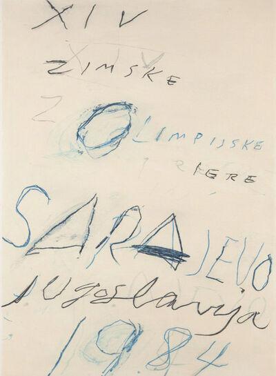 Cy Twombly, 'Sarajevo - Winter Olympics', 1984