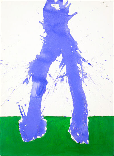Robert Motherwell, 'Study in Watercolour No. 6 (In Green and Blue)', 1968