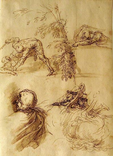 Salvator Rosa, 'Sheet of Studies', ca. 1650