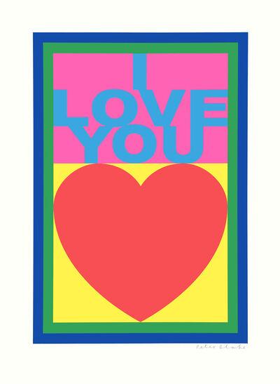 Peter Blake, 'I Love You', 2008