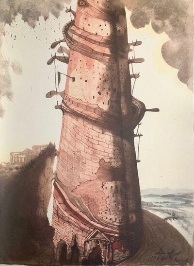 Salvador Dalí, 'The Tower of Babel, 'Turris Babel', Biblia Sacra', 1967