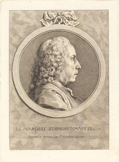 Charles-Nicolas Cochin II, 'Le Marquis Scipion Maffei', 1750