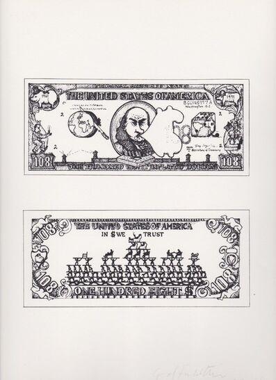 Öyvind Fahlström, 'Dollar Bill', 1966