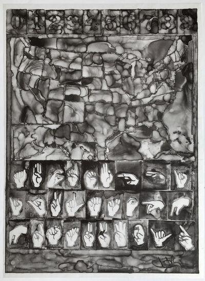 Jasper Johns, 'A.i.A.', 2013