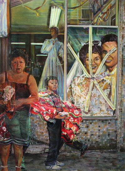 John Valadez, 'Victor Clothing Company Wedding Shop', 1985