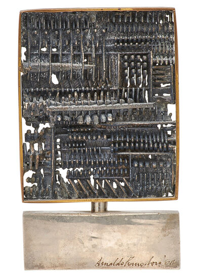 Arnaldo Pomodoro, 'Untitled (Construction in Silver)', 1964