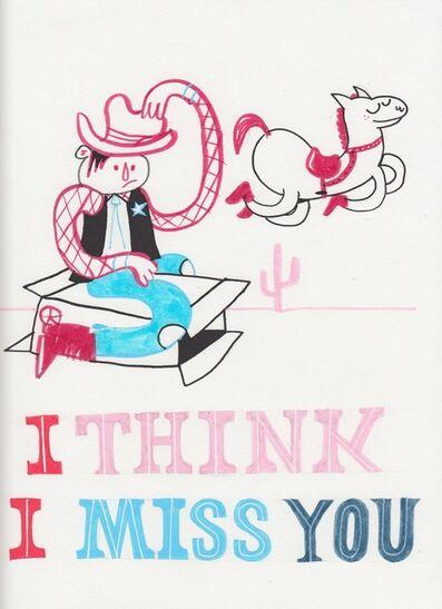Jim Avignon, 'I think I miss you. Cowboy', ca. 2009