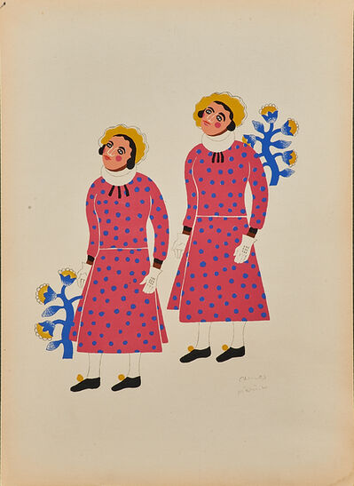 Carlos Merida, 'Two Men From Santa Ana Chiautempan Dressed as Women', 1940