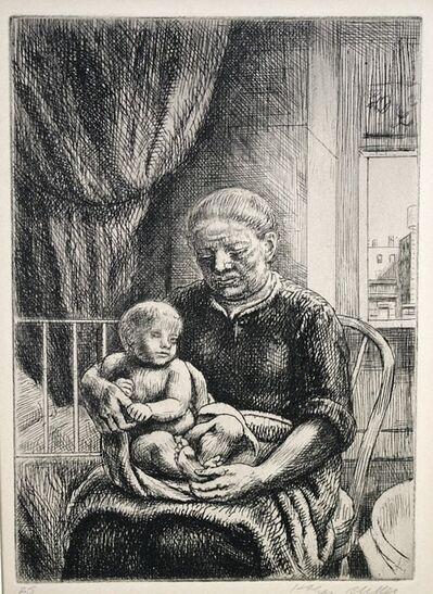 Kenneth Hayes Miller, 'Nurse and Child', ca. 1930