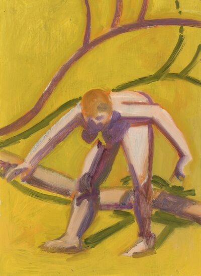 Lois Dodd, 'Nude Bending Forward', 2018
