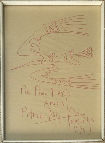Wifredo Lam, 'Fresh sketch', 1970