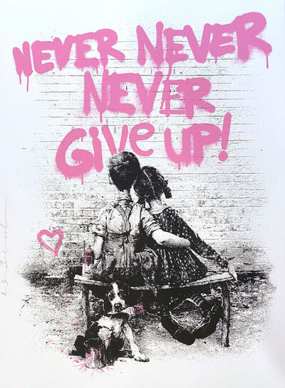 Mr. Brainwash, 'Don't Give Up! (Pink)', 2020