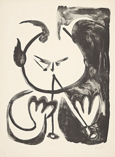 Pablo Picasso, 'Faune musicien no. 5 (Musizierender Faun Nr. 5)', 1948