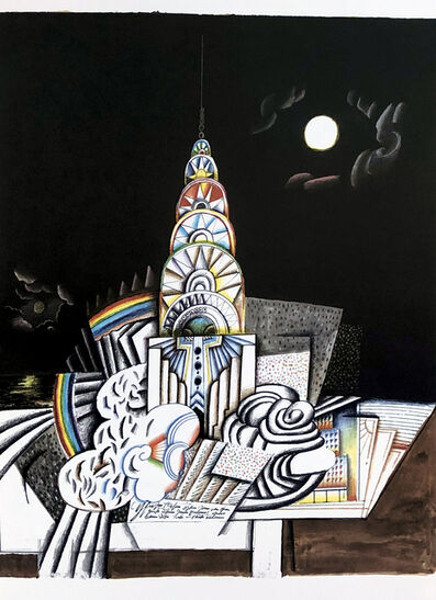 Saul Steinberg, 'Saul Steinberg Empire State lithograph', ca. 1970