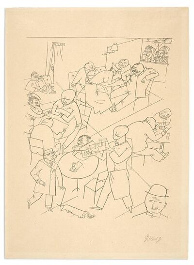 George Grosz, 'CAFÉ (DÜCKERS SI 41)', 1916