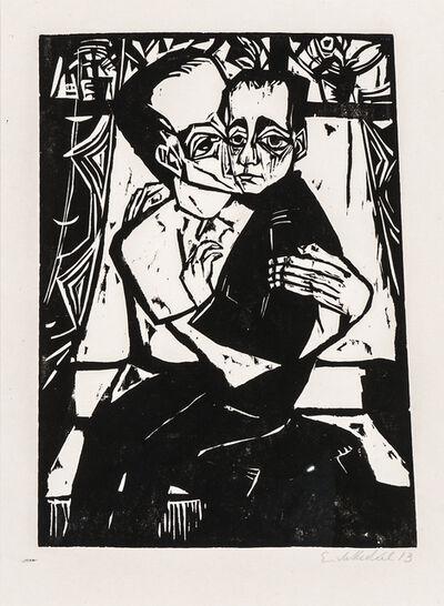 Erich Heckel, 'Geschwister', 1913