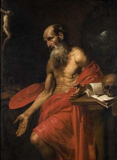 Valentin de Boulogne, 'St. Jerome', ca. 1628-30