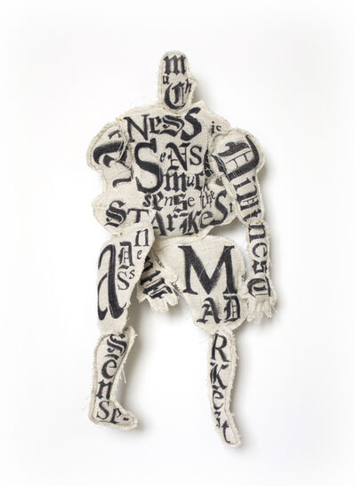 Lesley Dill, 'Hairy Man #2', 2013