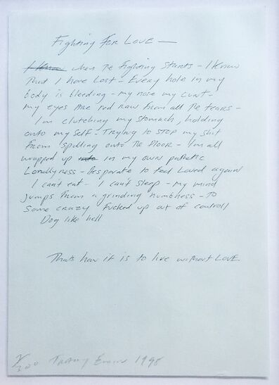 Tracey Emin, 'Fighting for Love', 1998