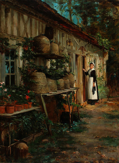 Henry Bacon, 'The Beekeeper's Daughter', 1881