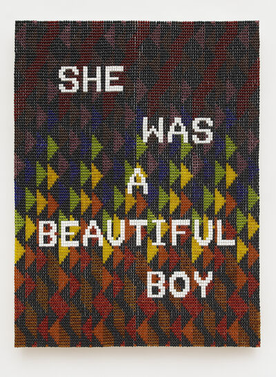Jeffrey Gibson, 'SHE WAS A BEAUTIFUL BOY', 2020