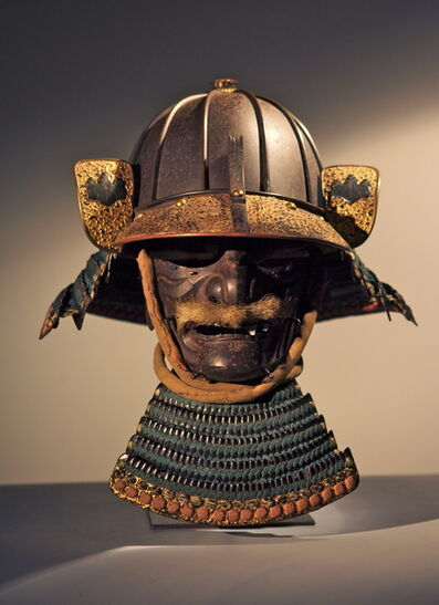 Katchu Shi, 'Heavy 8 Plate Samurai Helmet and Mask', ca. 1600