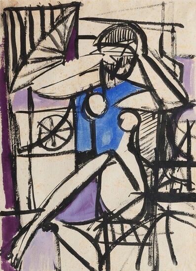Giulio Turcato, 'Sitting woman'
