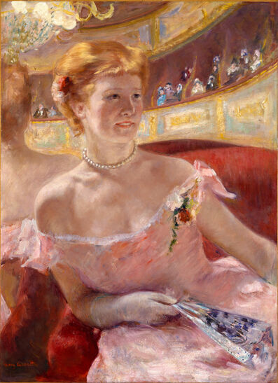 Mary Cassatt, 'Woman in a Loge', 1879