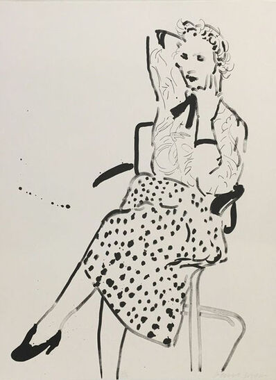 David Hockney, 'Celia with polka dot skirt', 1980