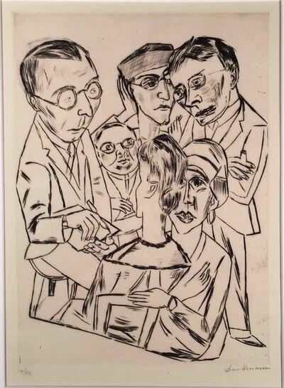 Max Beckmann, 'DER ZEICHNER IN GESELLSCHAFT (The Draftsman in Society)', 1922