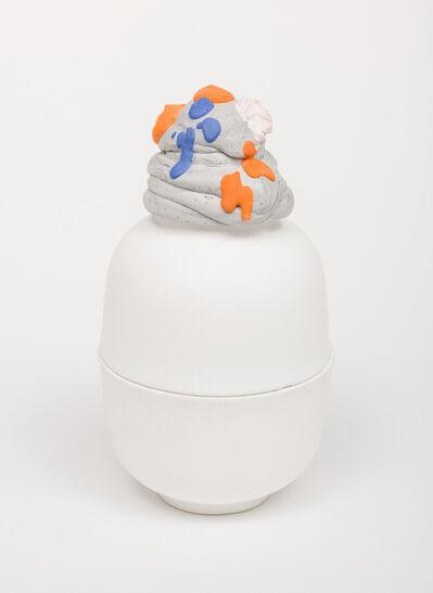 Arlene Shechet, 'Untitled on White Plaster Bowl', 2019