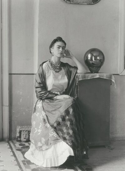 Manuel Álvarez Bravo, 'Frida Seated With Globe', 1938