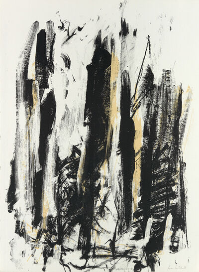 Joan Mitchell, 'Arbres (Black and Yellow)', 1991-92