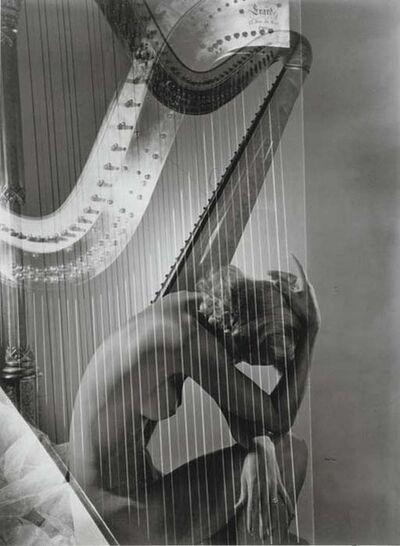 Horst P. Horst, 'Lisa Fonssagrives-Penn with Harp', 1939