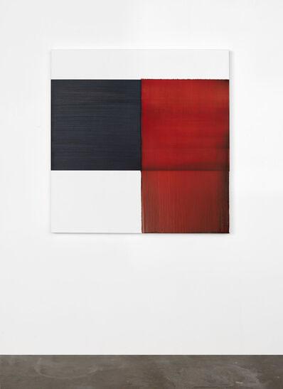 Callum Innes, 'Exposed Painting Crimson Lake', 2020