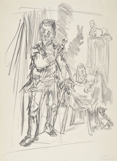 Oskar Kokoschka, 'The Magic Shape (The Magician)', 1951