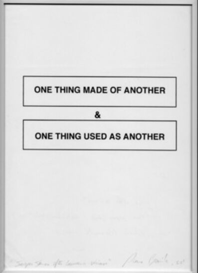 Pierre Bismuth, 'Jasper Johns after Lawrence Weiner (one thing made...)', 2003