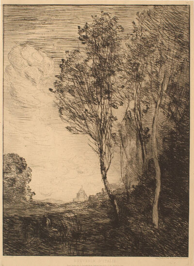 Jean-Baptiste-Camille Corot, 'Souvenir D'Italie', 1866