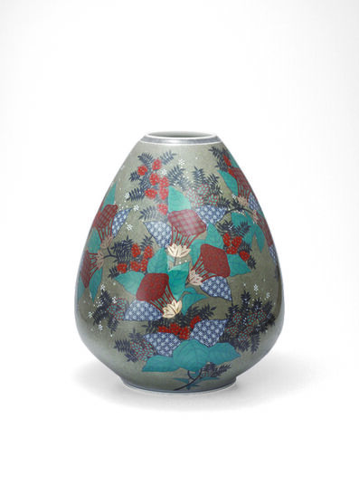 Imaizumi Imaemon XIV, 'Vase with Zuika (Mullein) Flower Patterns', 2013