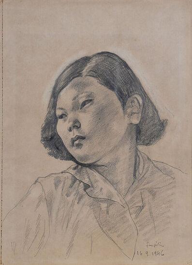 Léonard Tsugouharu Foujita 藤田 嗣治, 'Jeune femme asiatique', 1946