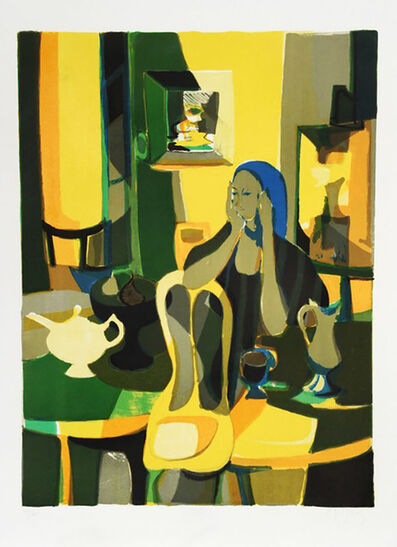 Marcel Mouly, 'AT THE CAFE', 1977