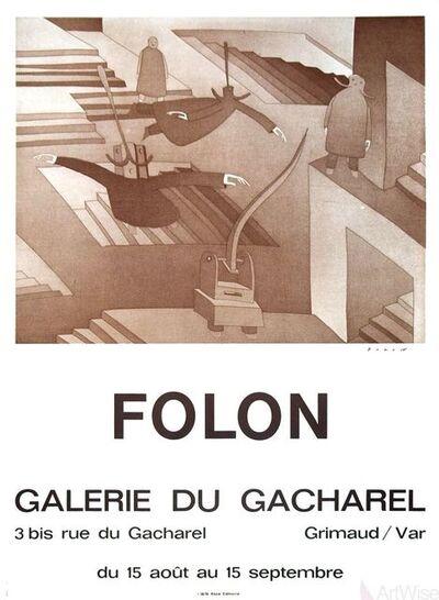 Jean Michel Folon, 'Galerie Du Cacharel', 1972