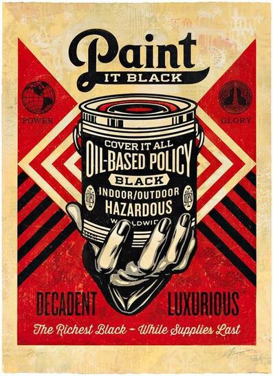 Shepard Fairey, 'Paint it Black (Hand), HPM', 2015