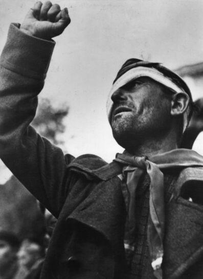 Robert Capa, 'Member Of The International Brigade, Montblanch', 1938