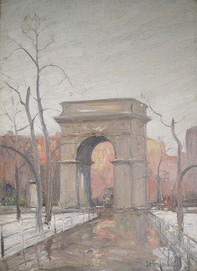 Bella de Tirefort, 'Winter in Washington Square Park '