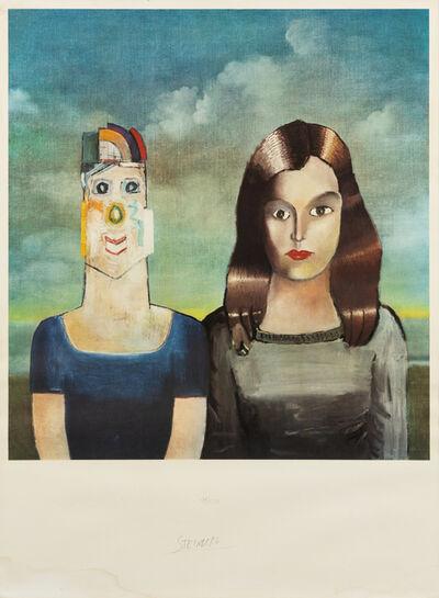 Saul Steinberg, 'Couple', 1971