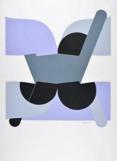 Luis Wells, 'Sin título (Composición Gris, Negro y Lila)', ca. 1970