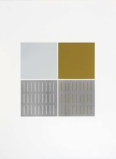 Jesús Rafael Soto, 'Tes plata y oliva. Serie Araya', 1974
