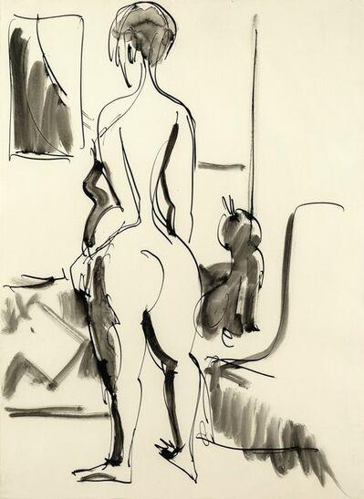 Ernst Ludwig Kirchner, 'Rückenakt mit Katze (Nude with Cat)', 1929