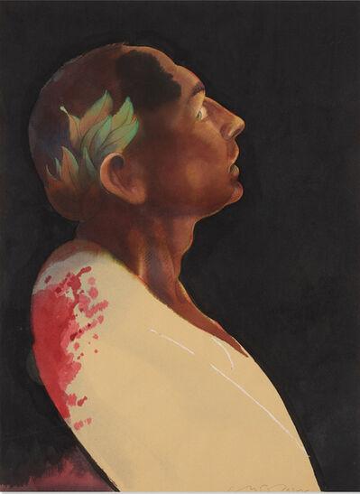 """Milton Glaser, '""""Julius Caesar"""" original art for Penguin book cover', 1983"""